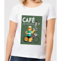 Mark Fairhurst Cafe Du Cycliste Women's T-Shirt - White - XXL - White