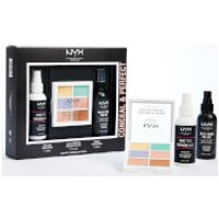 NYX Professional Makeup Conceal and Perfect Primer, 3C, and Setting Spray Gift Set (Worth PS25.00)