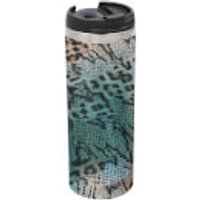 Colourful Animal Print Stainless Steel Thermo Travel Mug - Metallic Finish - Travel Gifts