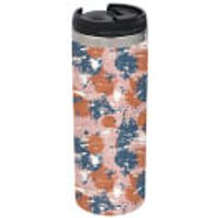 Pink Blue Camo Stainless Steel Thermo Travel Mug - Camo Gifts