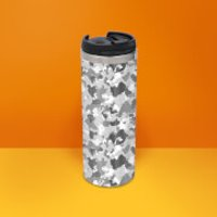 Grey Camo Stainless Steel Travel Mug - Camo Gifts