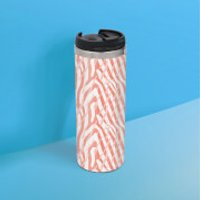 Zebra Pattern Stainless Steel Travel Mug - Zebra Gifts