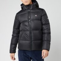 Tommy Jeans Mens Essential Down Jacket - Tommy Black - XXL