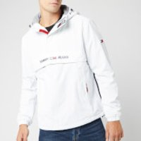 Tommy Jeans Men's Padded Popover Jacket - Classic White - M
