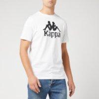 Kappa Men's Large Logo Short Sleeve T-Shirt - White - S