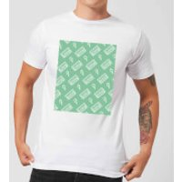 VHS Tape Pattern Green Men's T-Shirt - White - XL - White
