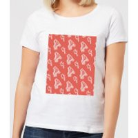 Roller Skate Pattern Red Women's T-Shirt - White - L - White