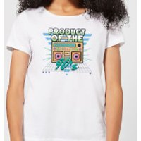 Product Of The 90's Boom Box Women's T-Shirt - White - L - White