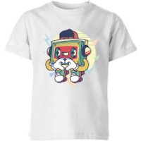 Cassette Tape Love Character Kids' T-Shirt - White - 7-8 Years - White