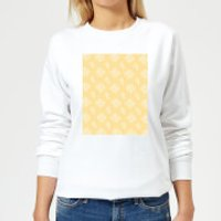 Floppy Disc Pattern Yellow Women's Sweatshirt - White - M - White - Yellow Gifts