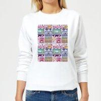 90's Product Tiled Pattern Women's Sweatshirt - White - S - White