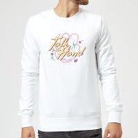 Talk To The Hand Sweatshirt - White - XXL - White