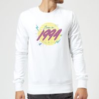 Born In 1994 Sweatshirt - White - XL - White