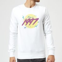 Born In 1997 Sweatshirt - White - XXL - White