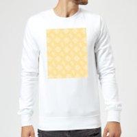 Floppy Disc Pattern Yellow Sweatshirt - White - XL - White - Yellow Gifts