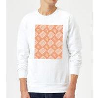 Boombox Pattern Orange Sweatshirt - White - XXL - White - Orange Gifts