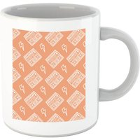 Boombox Pattern Orange Mug - Orange Gifts