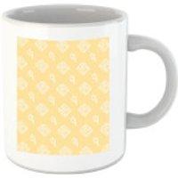 Floppy Disc Pattern Yellow Mug - Yellow Gifts