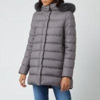 Herno Women's Padded Half Coat - Grey - IT 42/UK 10