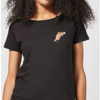 Small Dripping Pizza Women's T-Shirt - Black - S - Black