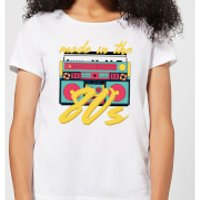 Made In The 80s Boombox Women's T-Shirt - White - XL - White