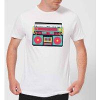 Colourful Boombox Men's T-Shirt - White - XXL - White