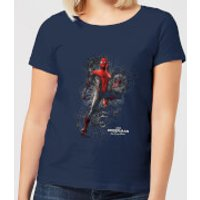 Spider-Man Far From Home Upgraded Suit Womens T-Shirt - Navy - M - Navy