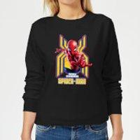 Spider Man Far From Home Friendly Neighborhood Spider-Man Women's Sweatshirt - Black - 5XL - Black - Spider Man Gifts