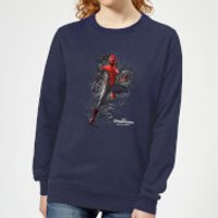 Spider-Man Far From Home Upgraded Suit Womens Sweatshirt - Navy - L - Navy