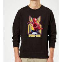 Spider Man Far From Home Friendly Neighborhood Spider-Man Sweatshirt - Black - 5XL - Black - Spider Man Gifts