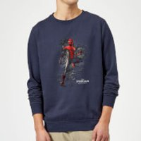 Spider-Man Far From Home Upgraded Suit Sweatshirt - Navy - S - Navy