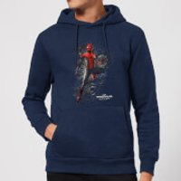 Spider-Man Far From Home Upgraded Suit Hoodie - Navy - S - Navy