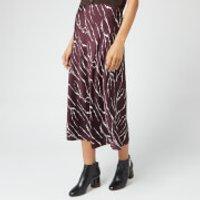 Whistles Women's Twig Silk Bias Skirt - Burgundy - UK 8