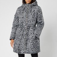 MICHAEL MICHAEL KORS Women's Cheetah Reversible Puffer Coat - Gunmetal - XS