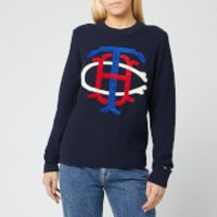 Tommy Hilfiger Women's Essential Graphic Sweater - Sky Captain - XS