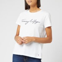 Tommy Hilfiger Women's Heritage Crewneck Graphic T-Shirt - Classic White - XS
