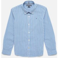 Tommy Kids Boys' Long Sleeve Stripe Shirt - Shirt Blue - 10 Years