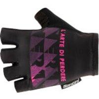 Santini Maglia Nera Gloves - L