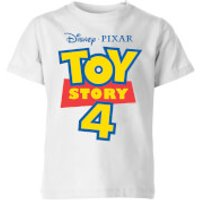 Toy Story 4 Logo Kids' T-Shirt - White - 11-12 Years - White - Toy Story Gifts