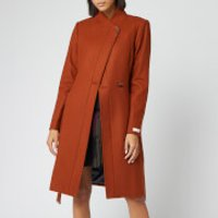 Ted Baker Women's Ellgenc Long Belted Wrap Coat - Tan - 4/UK 14