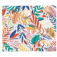 Colourful Leave Print Fleece Blanket - Blanket Gifts