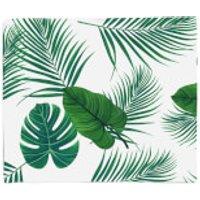 Tropical Leaves Fleece Blanket - Blanket Gifts