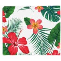 Tropical Flowers Fleece Blanket - Blanket Gifts