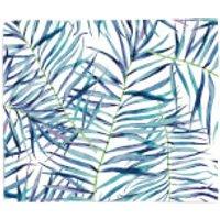 Blue Leaves Fleece Blanket - Blanket Gifts