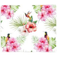 Floral Bird Print Fleece Blanket - Blanket Gifts