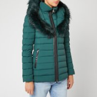Mackage Women's Kadalina Fur Trim Coat - Green - L