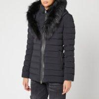 Mackage Women's Kadalina Fur Trim Coat - Black - L