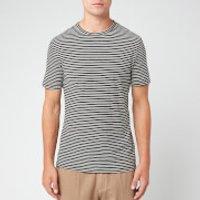 Officine Generale Men's Japanese Stripe Short Sleeve T-Shirt - Black/White - L