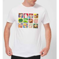 Disney Toy Story Face Collage Men's T-Shirt - White - XXL - White