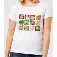 Disney Toy Story Face Collage Women's T-Shirt - White - XXL - White - Toy Story Gifts